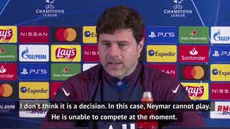 Preview image for  Pochettino confirms Neymar injury as 'a fact'