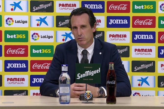 """Emery carga contra el arbitraje de Medié Jiménez: """"Los protagonistas tienen que ser los futbolistas"""""""