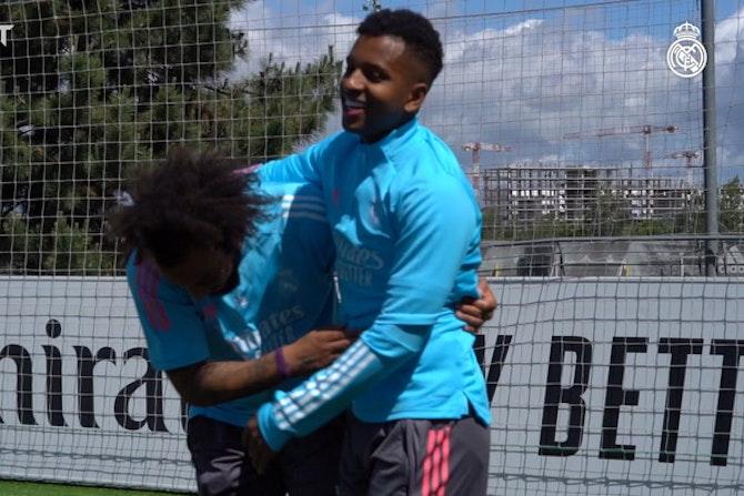 Detrás de cámaras: Último entrenamiento antes de visitar al Granada