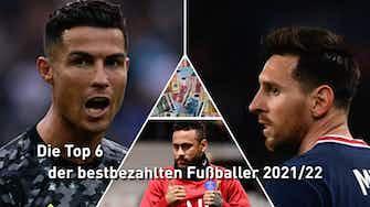 Vorschaubild für CR7 vor Messi: Die Top 6 der bestbezahlten Fußballer