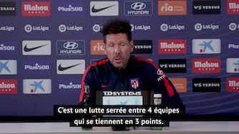 """Image d'aperçu pour 34e j. - Simeone : """"On doit croire en nos joueurs qui font une très bonne saison pour l'instant"""""""