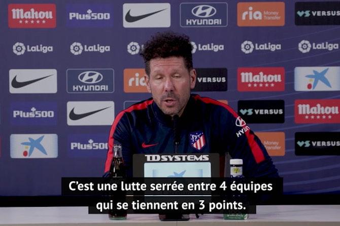 """34e j. - Simeone : """"On doit croire en nos joueurs qui font une très bonne saison pour l'instant"""""""