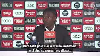 "Imagen de vista previa para Camavinga: ""Soñaba con jugar en este club desde que era pequeño"""