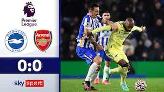 Vorschaubild für Arsenals Serie reißt | Highlights: Brighton - Arsenal 0:0