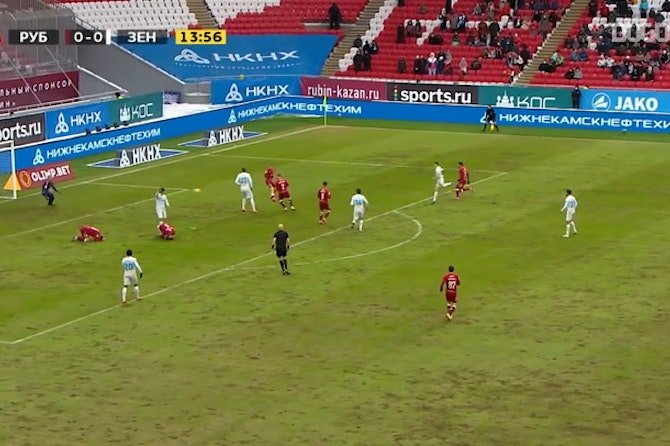 Zenit bows to Rubin at stoppage time