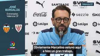 """Imagen de vista previa para Bordalás, sobre Marcelino: """"Es inevitable, los jugadores te dan datos del pasado"""""""