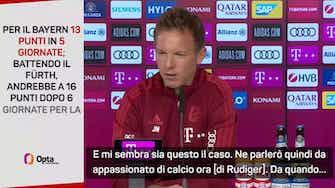 """Anteprima immagine per Nagelsmann su Rudiger: """"Devo vedere quanto dura il suo contratto e se mi son rimasti soldi..."""""""