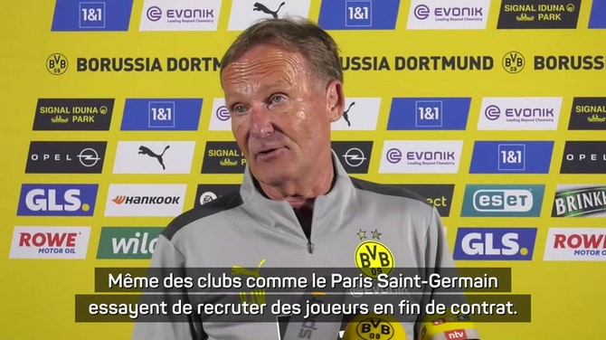 """Image d'aperçu pour Dortmund - Watzke : """"L'écart financier avec des clubs comme le PSG va s'accroître..."""""""