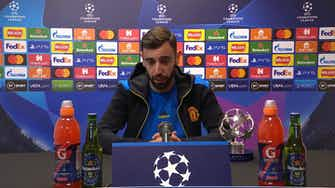 Preview image for Great victory but we must improve! Bruno Fernandes reaction to Atalanta comeback victory in Champions League