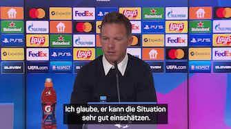 """Vorschaubild für Nagelsmann: Lucas Hernandez fällt """"positiv"""" auf"""