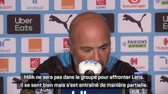 """Image d'aperçu pour 8e j. - Sampaoli devra se passer de Milik face à Lens, """"l'équipe la plus physique de Ligue 1"""""""