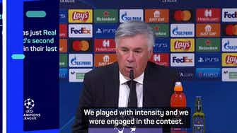Preview image for  Ancelotti defends Real's intensity after shock loss to Sheriff
