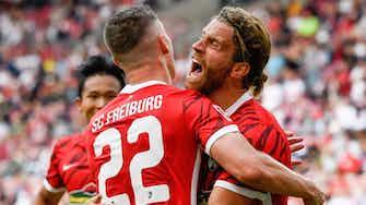 Vorschaubild für Derby mit furioser 1. Hälfte: Freiburg siegt 3:2 beim VfB
