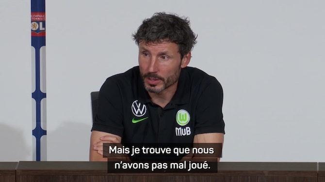 """Image d'aperçu pour Wolfsburg - Van Bommel : """"Lyon a une bonne équipe"""""""