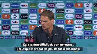 """Image d'aperçu pour 8es - de Boer : """"D'abord digérer cette défaite au goût amer"""""""
