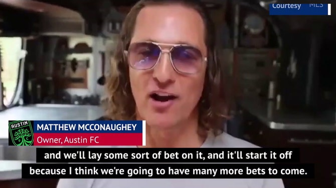 Preview image for McConaughey and Ferrell begin 'war of words' ahead of MLS season