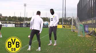 Imagem de visualização para Dortmund faz último treino antes de enfrentar o Arminia Bielefeld