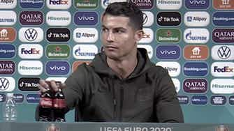 Preview image for Bottled it! Ronaldo sparks Coca-Cola conundrum