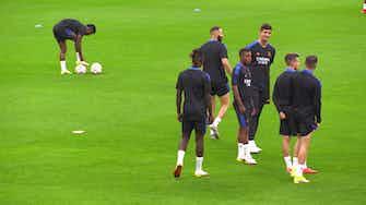 Anteprima immagine per Real Madrid, Ancelotti dirige l'allenamento fischiettando