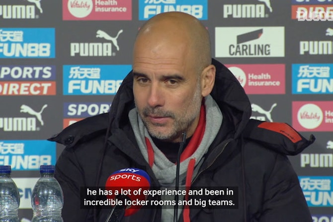 Pep on Scott Carson's debut and Ferran Torres as a striker