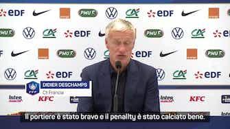 """Anteprima immagine per Deschamps: """"Bene Benzema. Il rigore? Solo sfortuna"""""""