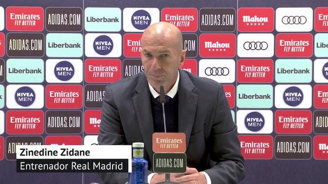 """Zidane, en titulares: """"Había una mano del Sevilla"""""""