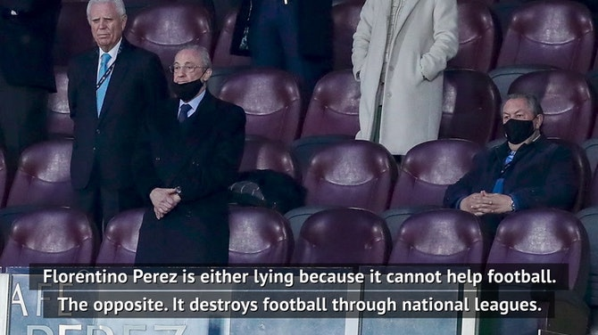 Florentino Perez is 'wrong or lying' - Tebas on Super League claims