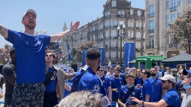 EPIC scenes in Porto as Chelsea and Man City fans show their support ahead of UCL final