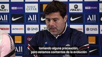 Imagen de vista previa para Pochettino, sobre la disponibilidad de Mbappé, la calma de Messi y el regreso de Sergio Ramos