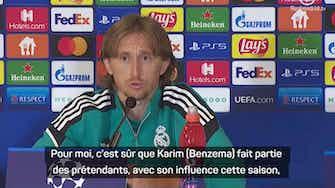 """Image d'aperçu pour Groupe D - Modric : """"Benzema mérite le Ballon d'or"""""""