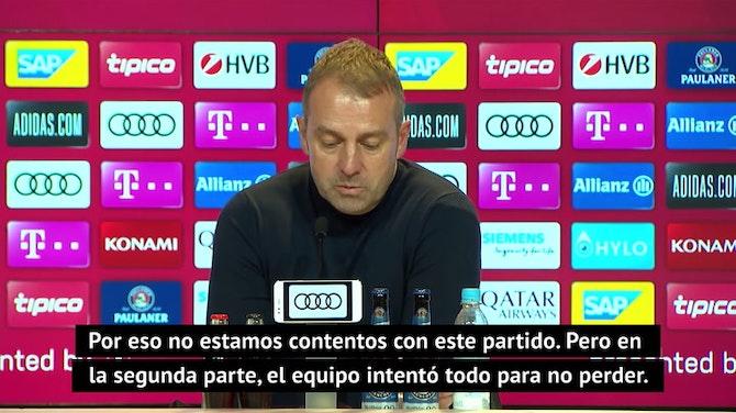 """Flick: """"Hoy tenemos que estar contentos con el empate"""""""