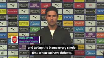 Preview image for  'Critical' Arteta blames himself after Arsenal's 5-0 thrashing