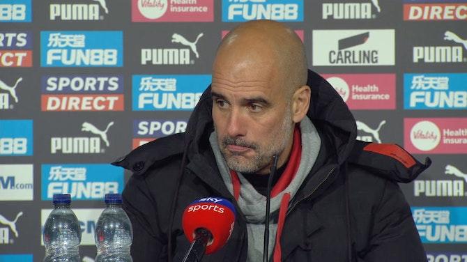 Pep Guardiola post-match reaction Newcastle 3-4 Man City | Premier League