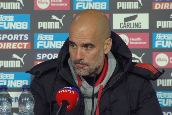 Pep Guardiola post-match reaction Newcastle 3-4 Man City | Premier League