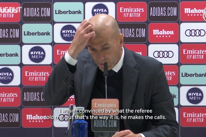 Zinedine Zidane: 'I need the handball rule explained to me'