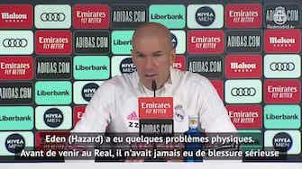 """Image d'aperçu pour 27e j. - Zidane : """"Très difficile pour Hazard d'être performant"""""""