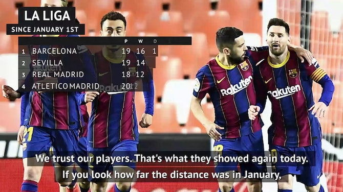 Barca assistant happy as they get ready to reel in Atletico