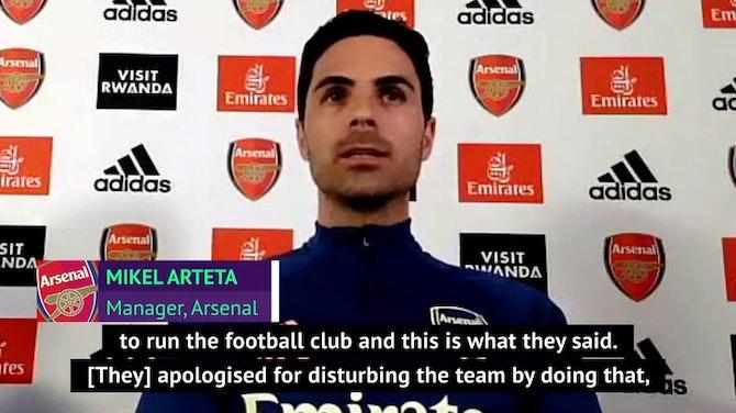 Arteta reveals Kroenke apology over Super League
