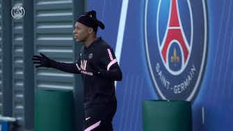 Preview image for Kylian Mbappé's training session before the match against Angers