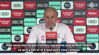 """Image d'aperçu pour 27e j. - Zidane : """"Un retour de Ronaldo ? Une rumeur"""""""