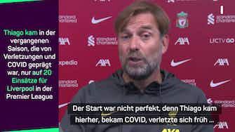 """Vorschaubild für Klopp lobt Ex-Bayer: """"Thiago ist Weltklasse"""""""