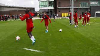 """Imagem de visualização para Mané, Shaqiri e Matip aquecem com """"altinha"""" no Liverpool"""