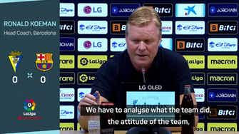 Preview image for Koeman feels the heat as Barca held by Cadiz
