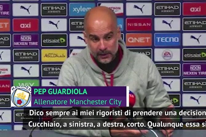 """Guardiola e il rigore fallito da Aguero: """"Egoista? Convinto del cucchiaio"""""""