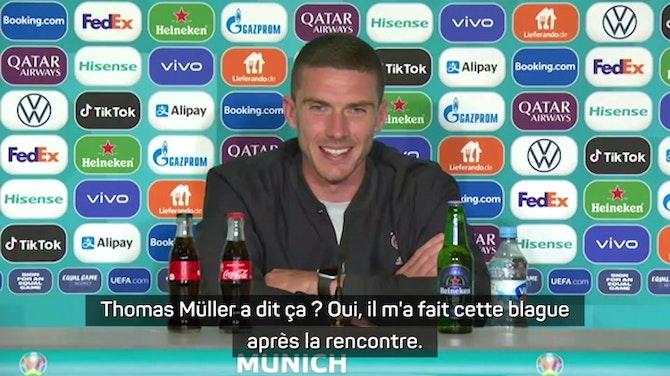 """Gr. F - Robin Gosens reprend Thomas Müller de volée : """"Mieux vaut faire 60 bonnes minutes que 90 mauvaises"""""""