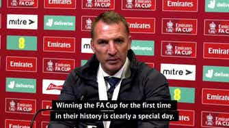 Preview image for Rodgers hails Leicester FA Cup triumph as a 'historic day' for the club