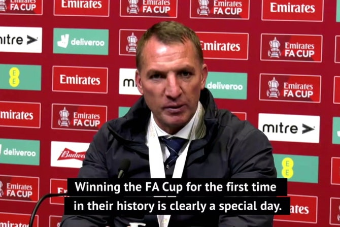 Rodgers hails Leicester FA Cup triumph as a 'historic day' for the club