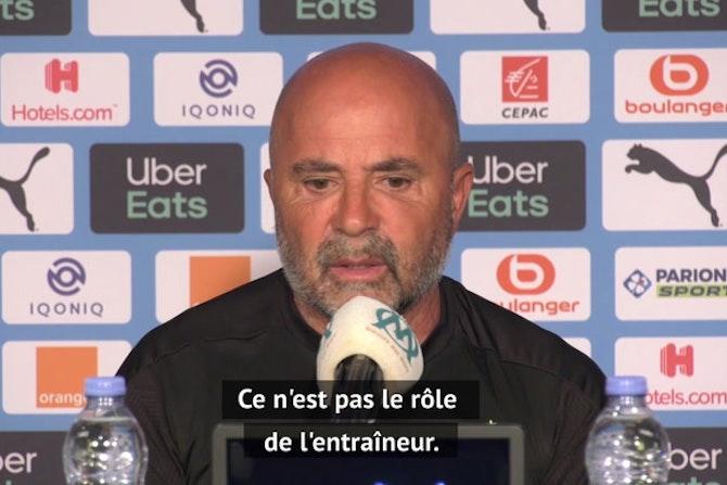 """OM - Sampaoli : """"Je ne vais rien tenter pour convaincre Thauvin de rester"""""""