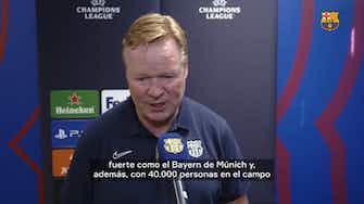 "Imagen de vista previa para Ronald Koeman: ""Podemos hacer daño al Bayern"""