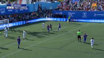 Imagen de vista previa para Los dos goles de Gavi ante el Real Madrid en la semifinal de La Liga Promises